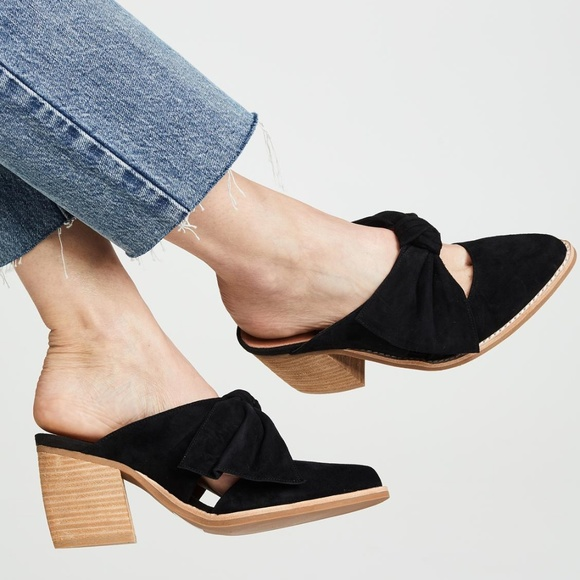 8dbfc21667e Jeffrey Campbell Shoes - Jeffrey Campbell Cyrus Bow Mules Block Heel suede